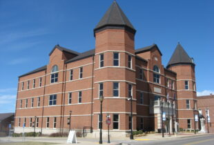 A photo of the Trigg County, KY Courthouse - Partner County of Fort Campbell Defense Alliance