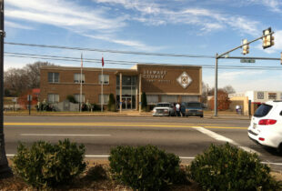 A photo of the Stewart County, TN Courthouse - Partner County of Fort Campbell Defense Alliance